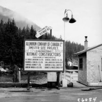 Welcome to Kitimat sign