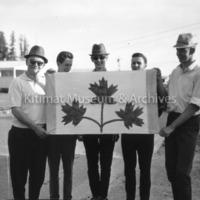 Men Holding Flag for Contest Entry