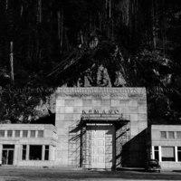 Letters over [powerhouse] portal main door