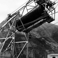 Tramway carrying liner for penstock No. 2