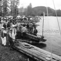 Raft race start line