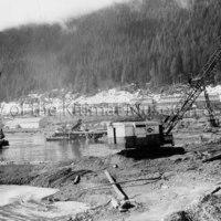 Permanent wharf construction site