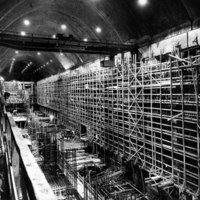 Beam and column construction in the powerhouse