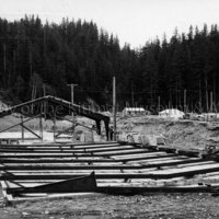 Anderson Creek Bowling Alley construction
