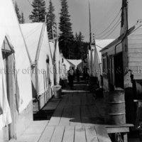West Tahtsa Lake tent camp