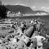Bathers at Hospital Beach