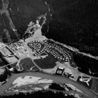 Aerial view of Kemano townsite