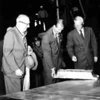 Prince Philip inspects first ingot