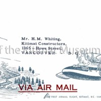First air mail envelope