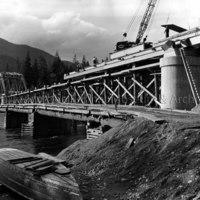 Haisla Bridge construction