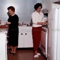 Teachers in their kitchen