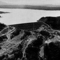 Aerial view of Kenney Dam
