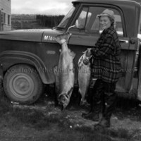 Mrs. Stackhouse with Her Catch of Fish